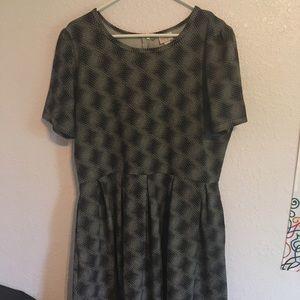 LuLaRoe Knee Length Dress Pockets Zipper Back